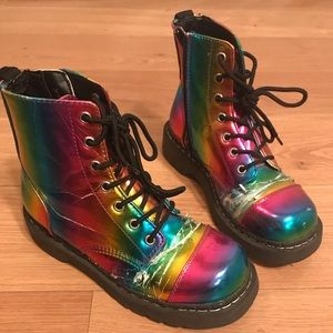 Shoes - Rainbow Anarchy Boots